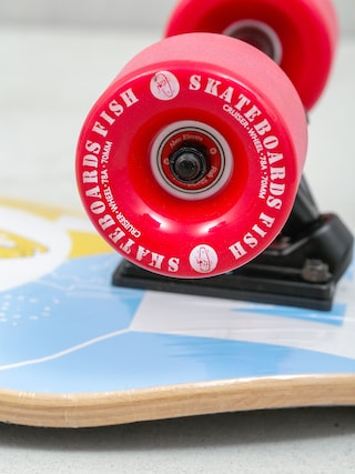 Deskorolka cruiser Fish Skateboards Flounder (black/red)