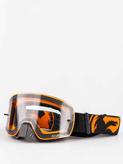 Gogle crossowe Dragon NFXs (black orange splkit/clear)