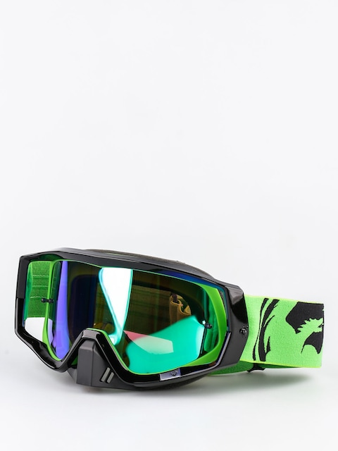 Gogle crossowe Dragon Vendetta (green black split/green ion)