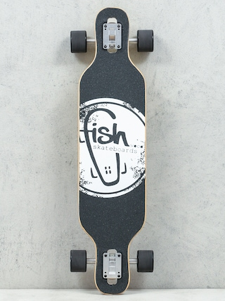 Longboard Fish Skateboards Viva (silver/black)