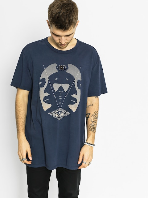 T-shirt OBEY I See Static (navy)