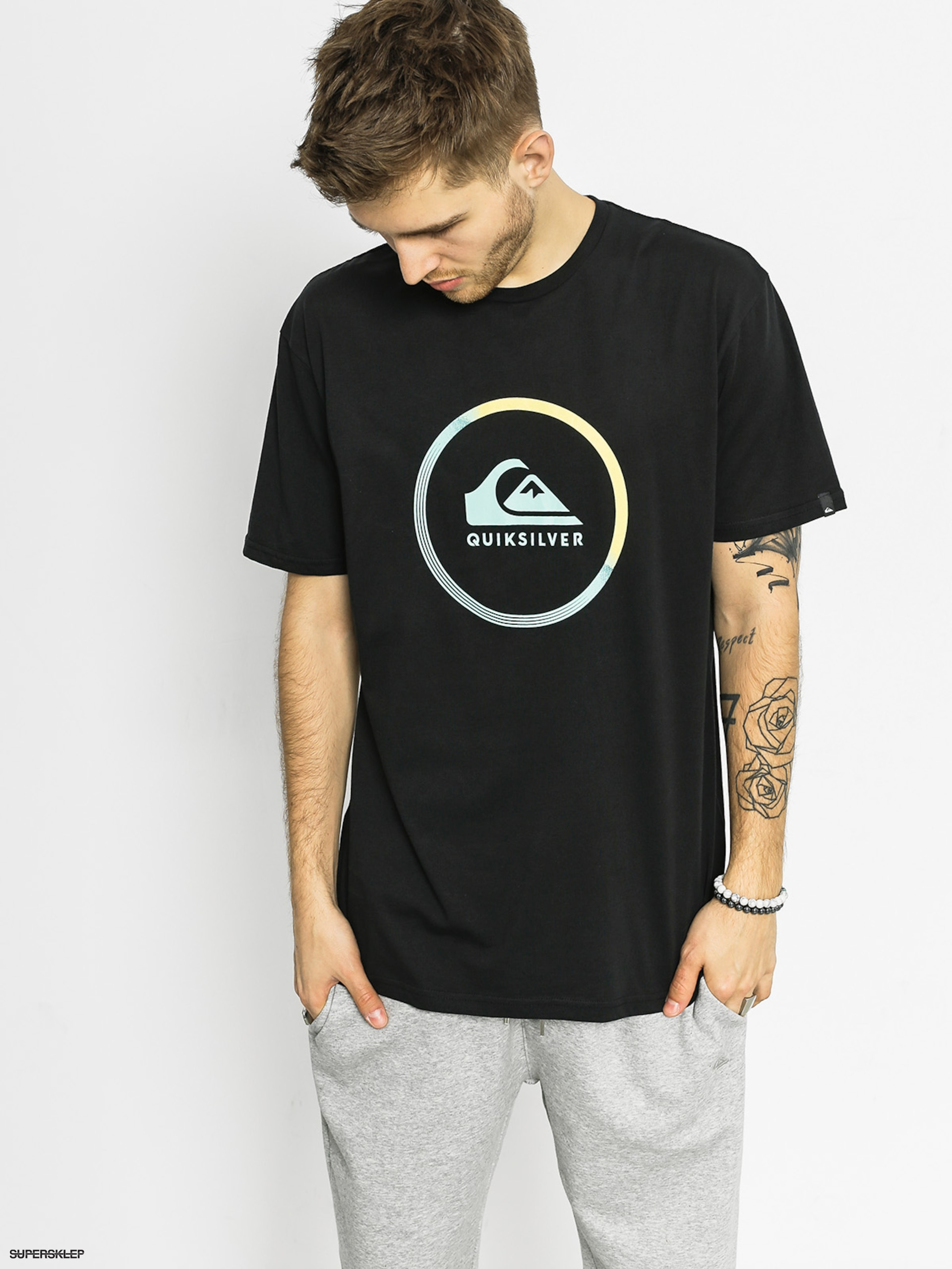T-shirt Quiksilver Active Logo (black)
