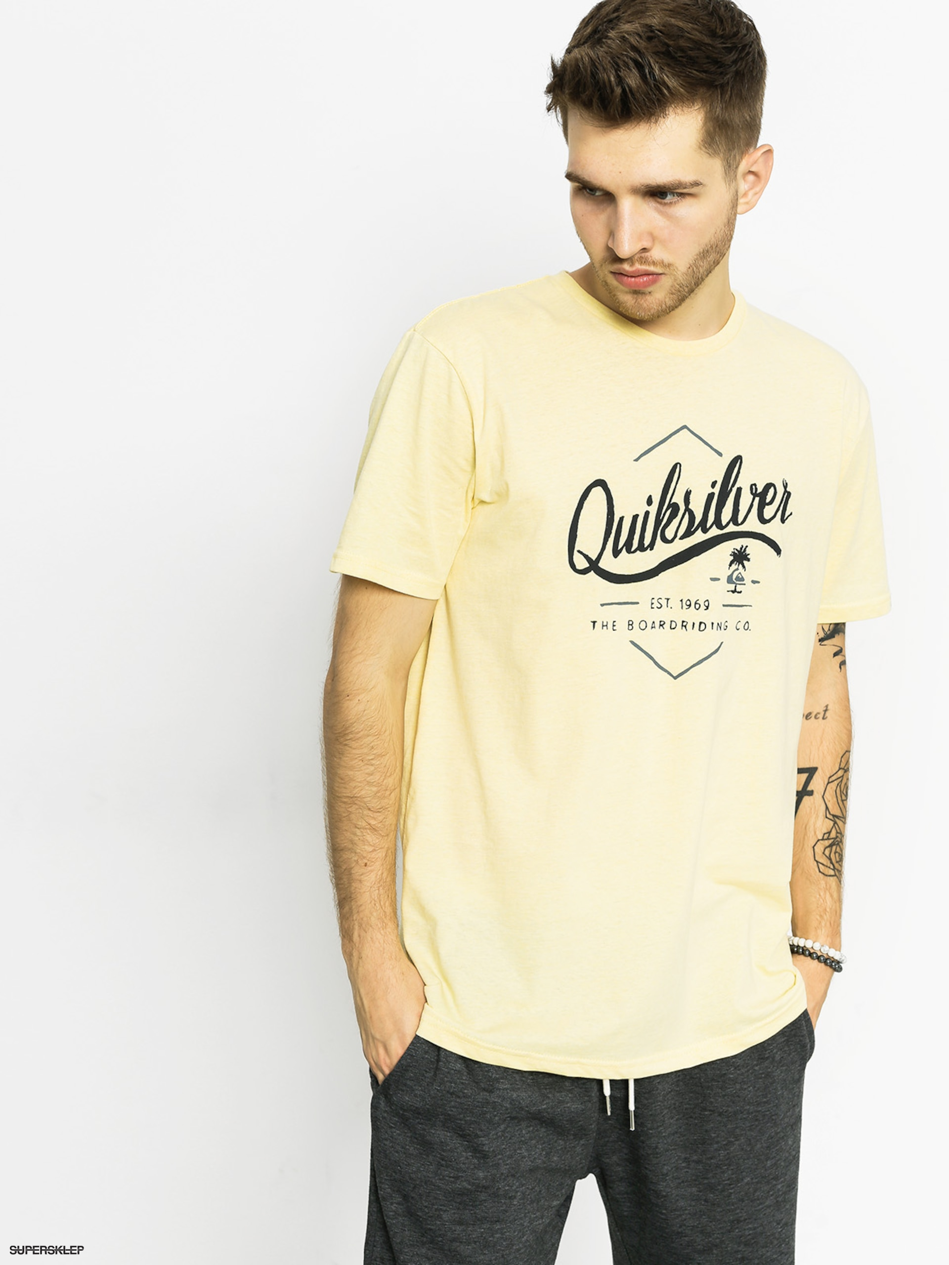 T-shirt Quiksilver Sea Tales (mellow yellow htr)