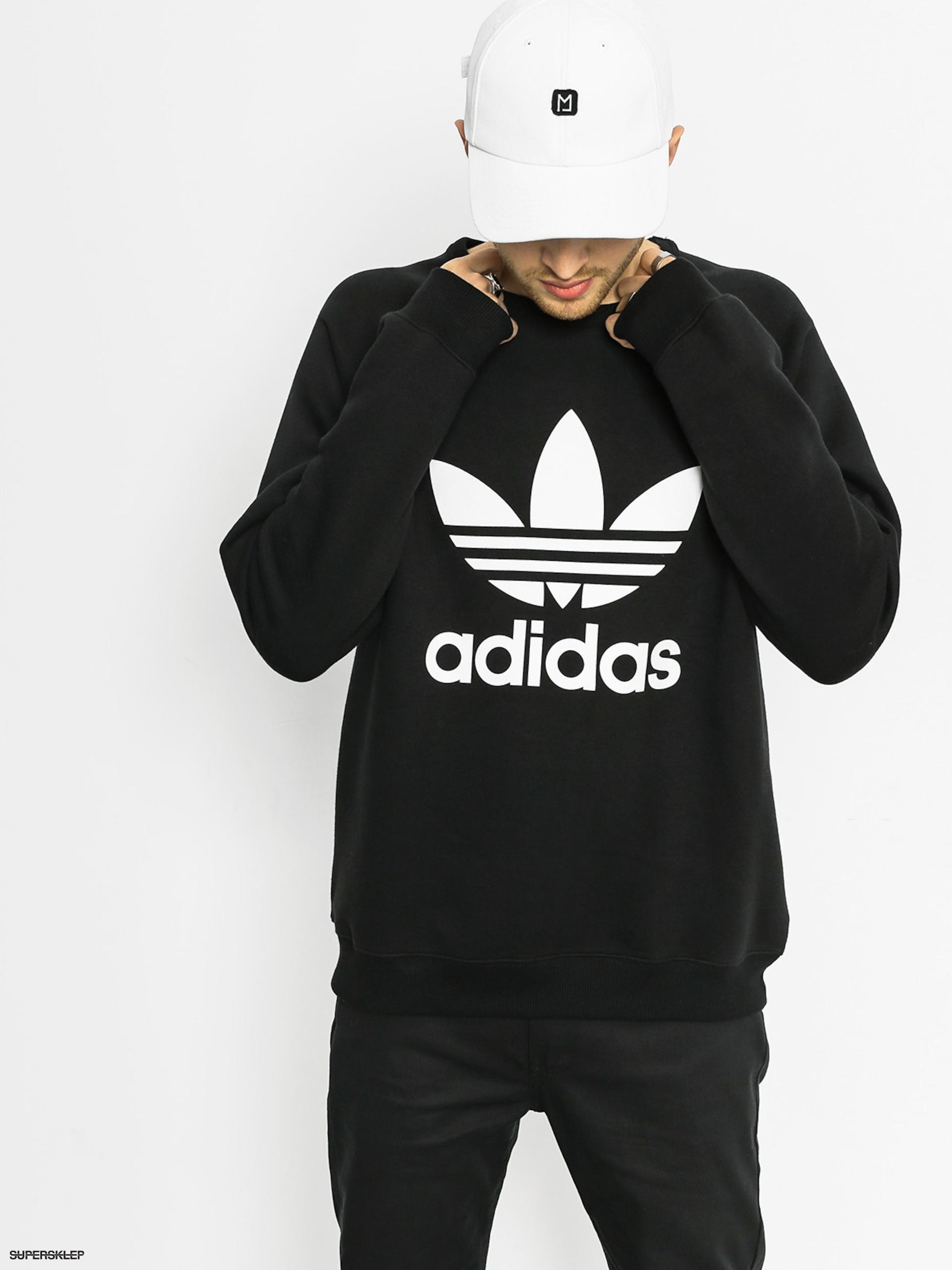 przyjazd niesamowita cena 50% zniżki Bluza adidas Trefoil Crew (black)