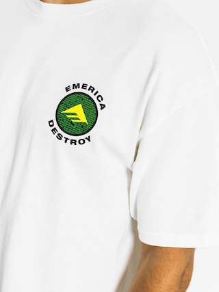 T-shirt Emerica Snake And Destroy (white)