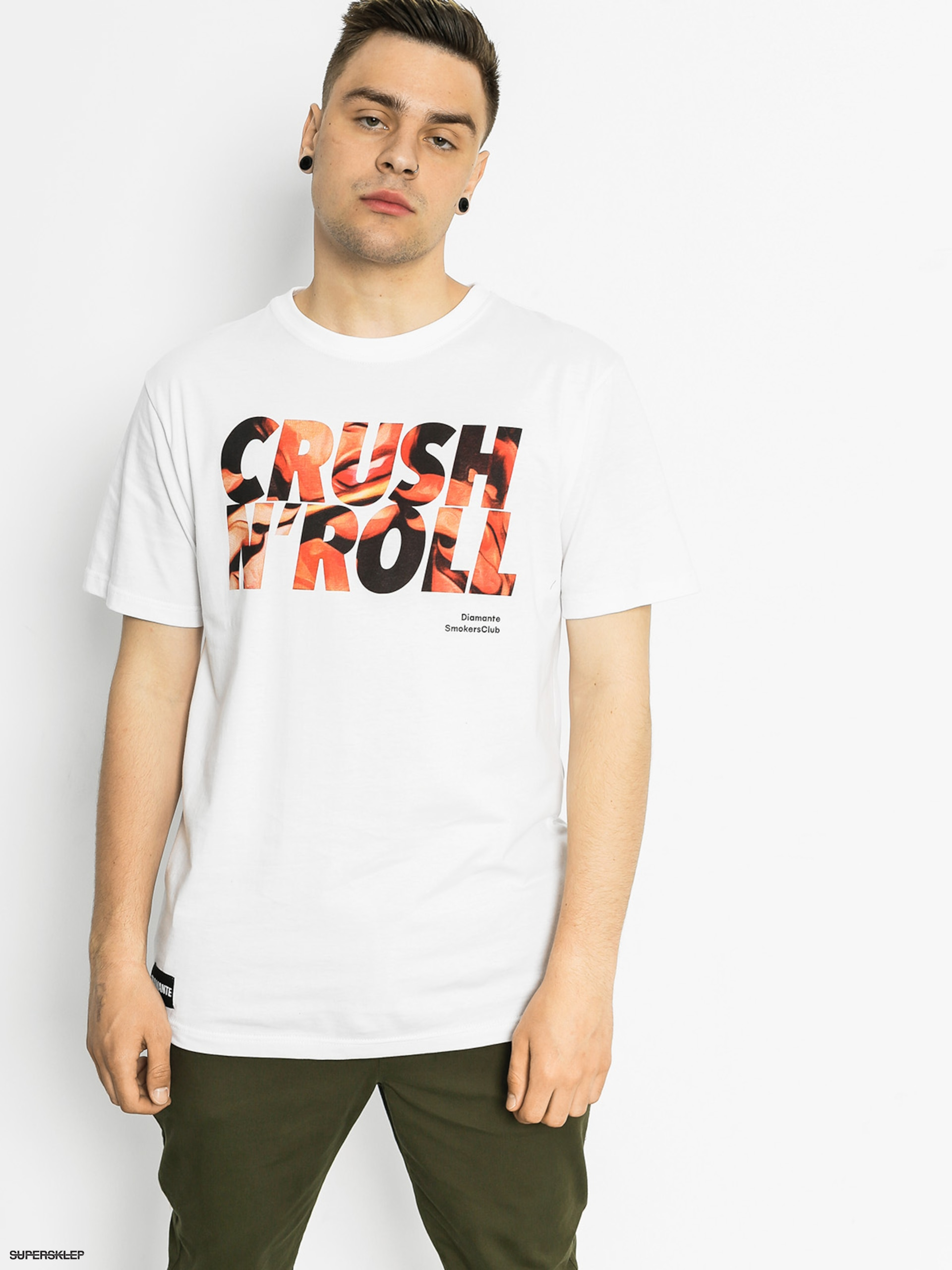 T-shirt Diamante Wear Crush And Roll (white)