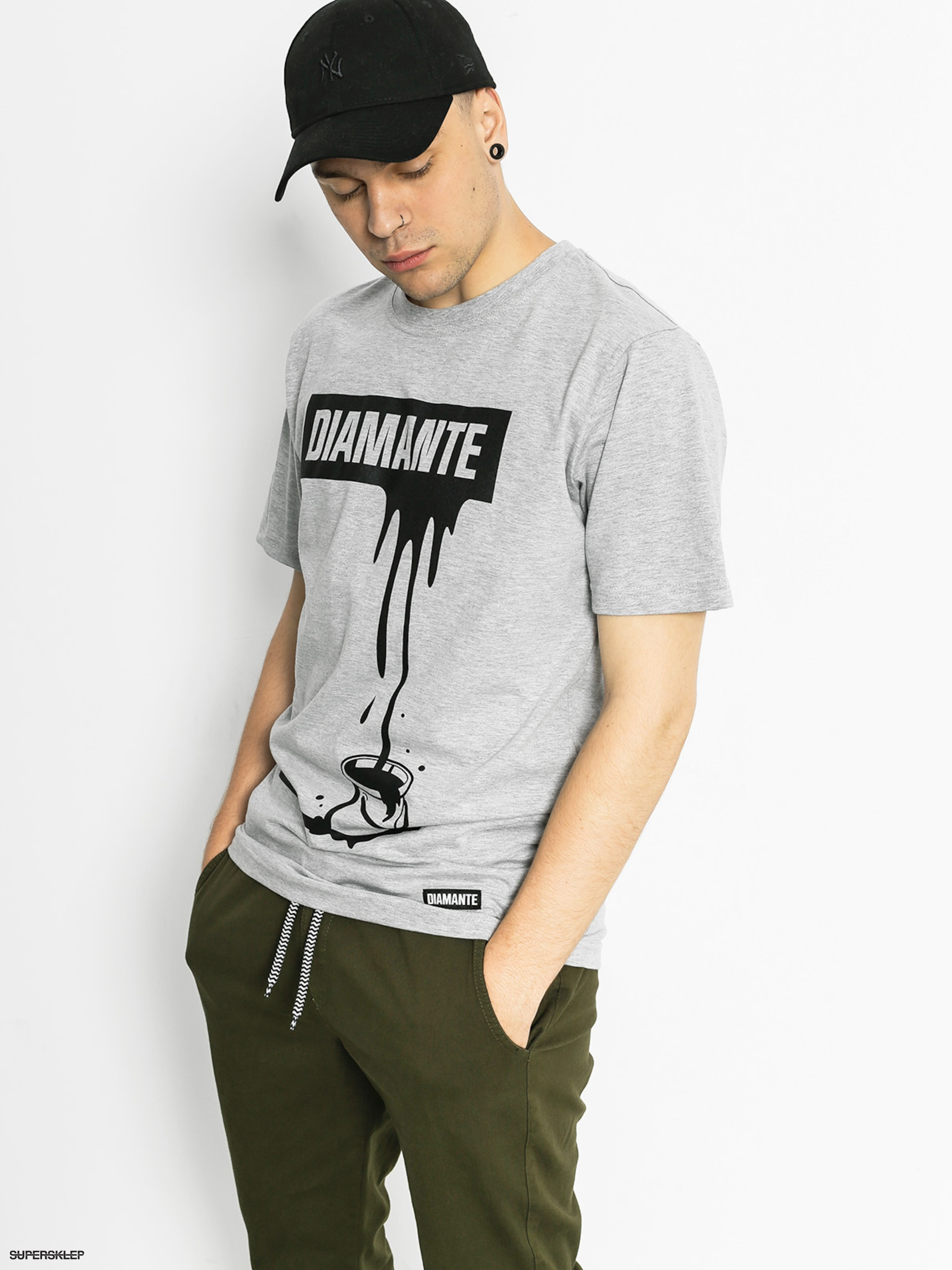 T-shirt Diamante Wear Paint Black (grey)