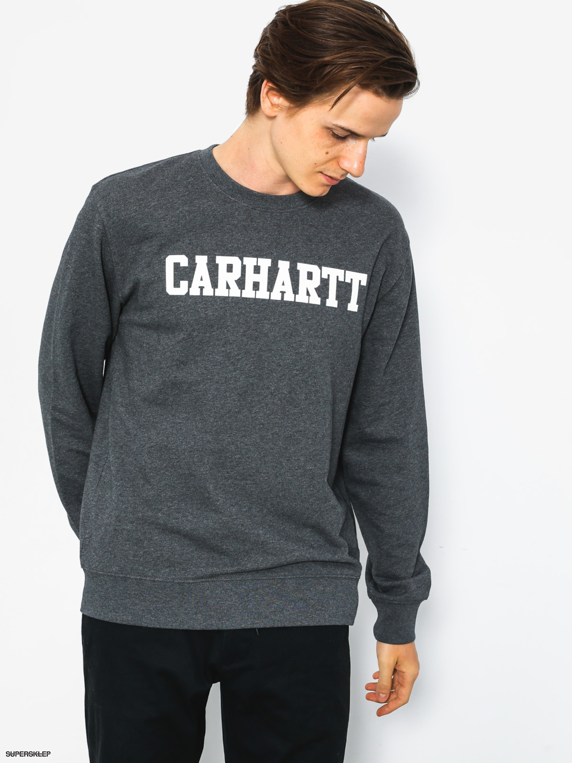 Bluza Carhartt College (dark grey heather/white)