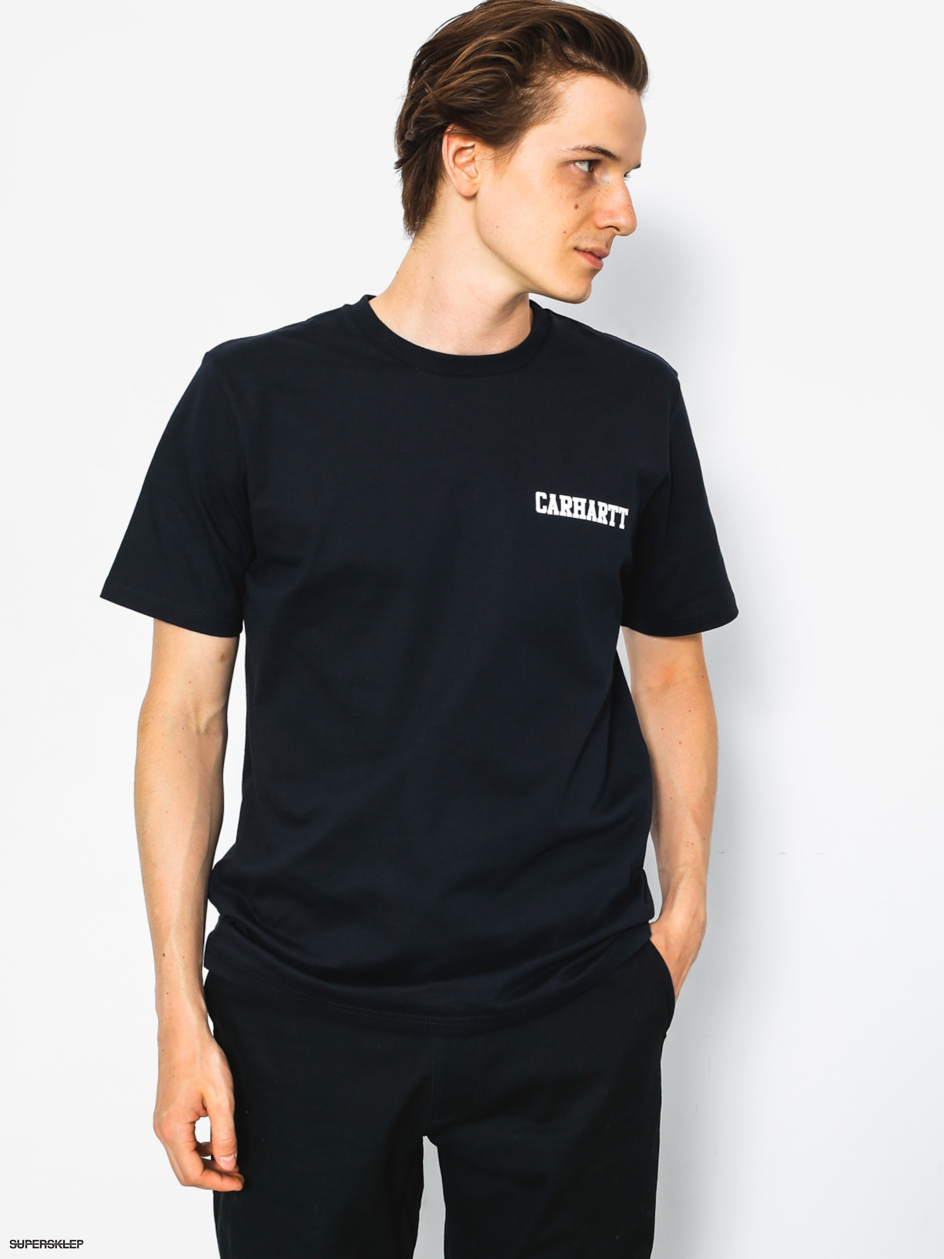 T-shirt Carhartt College Script (dark navy/white)