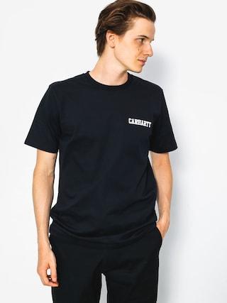 T-shirt Carhartt College Script (dark navy/white)
