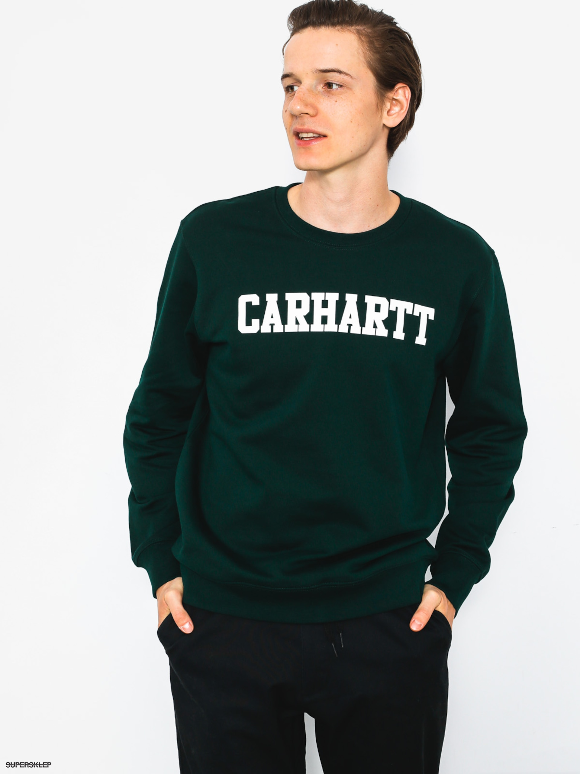 Bluza Carhartt College (parsley/white)