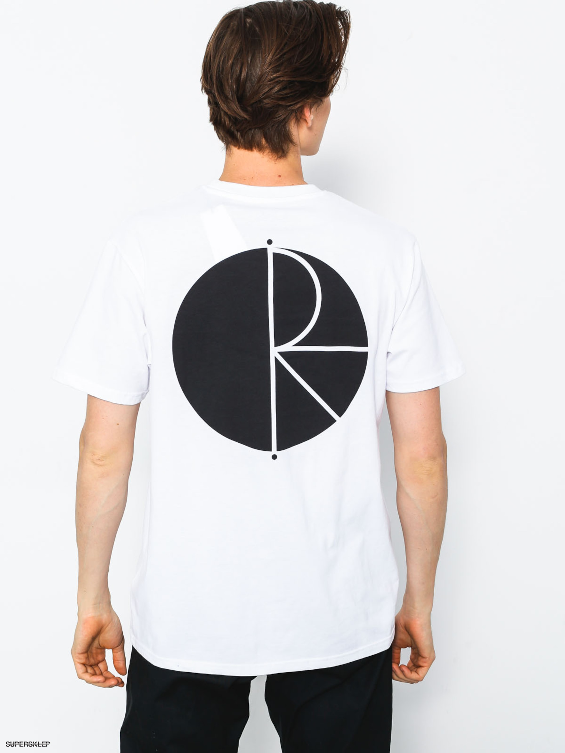 T-shirt Polar Skate Fill Logo (white)
