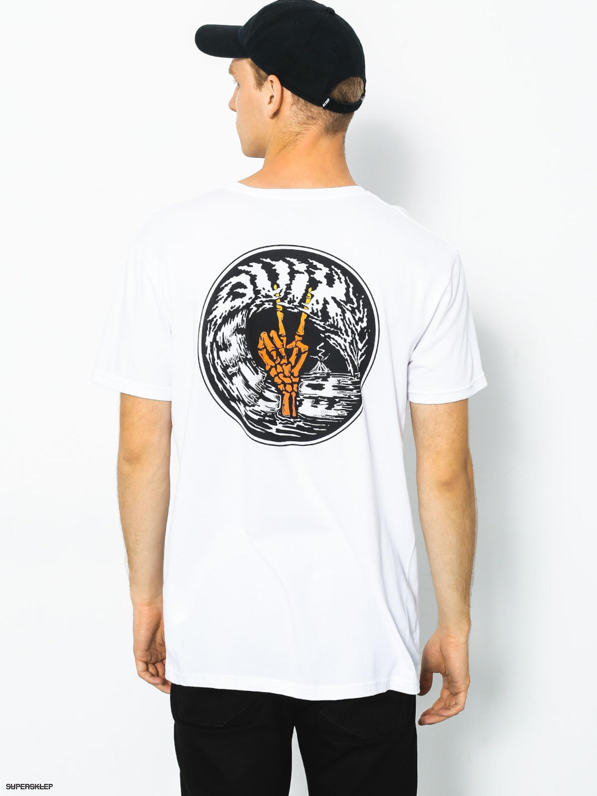 T-shirt Quiksilver Peace Cave (white)