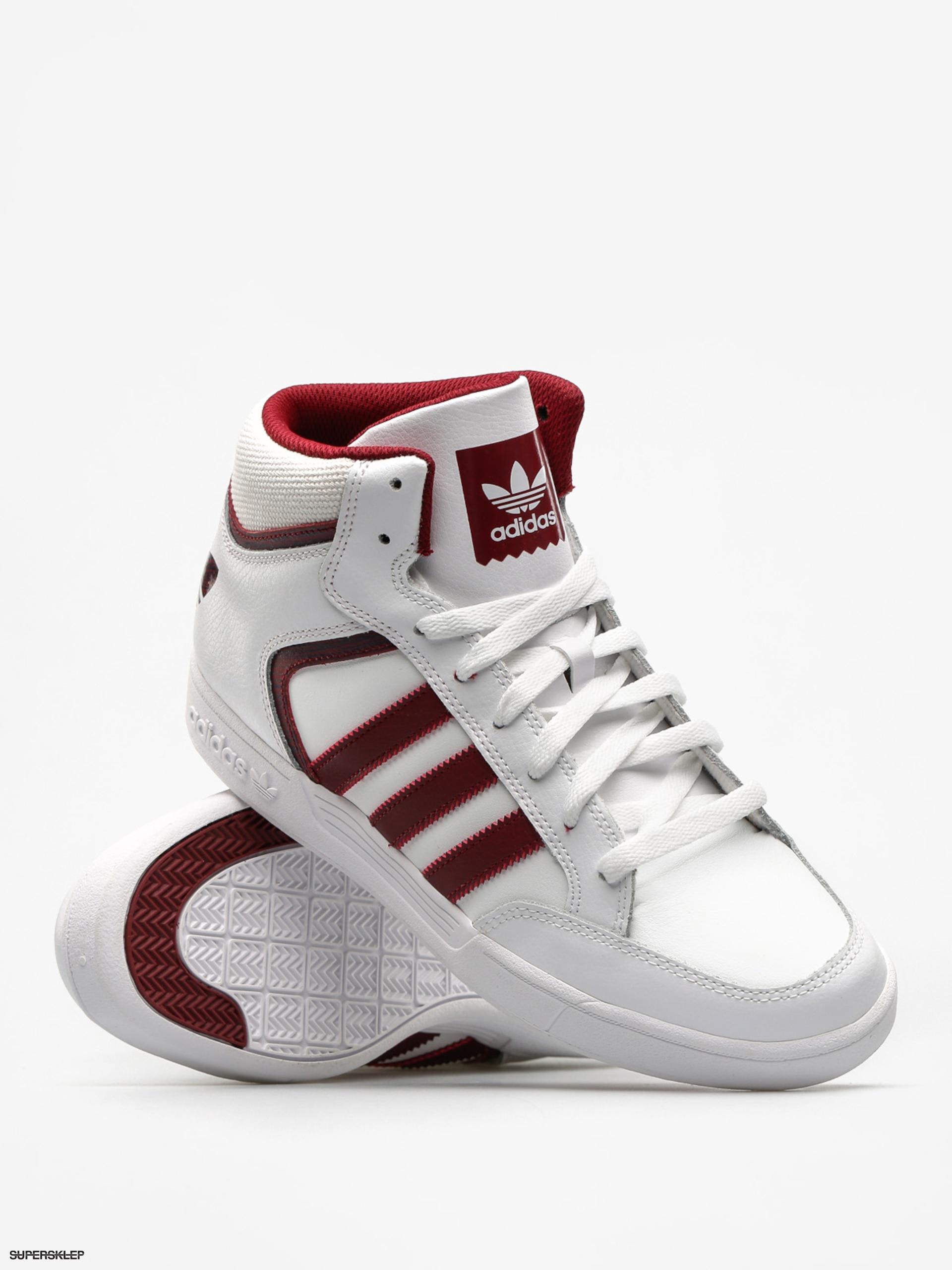 Buty adidas Varial Mid (ftwr whitecollegiate burgundyftwr white)
