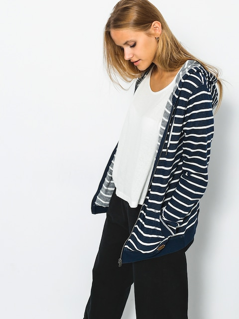 Bluza z kapturem Roxy Trippin Stripe ZHD Wmn (dress blues signatur)
