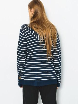 Bluza z kapturem Roxy Trippin Stripe ZHD Wmn (dress blues signatur)