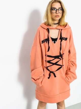 Bluza z kapturem Marska Oversized Real Lies HD Wmn (peach)