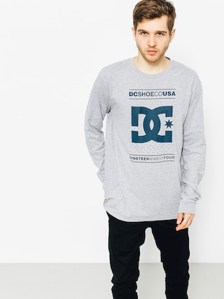Longsleeve DC About Progress (grey heather)