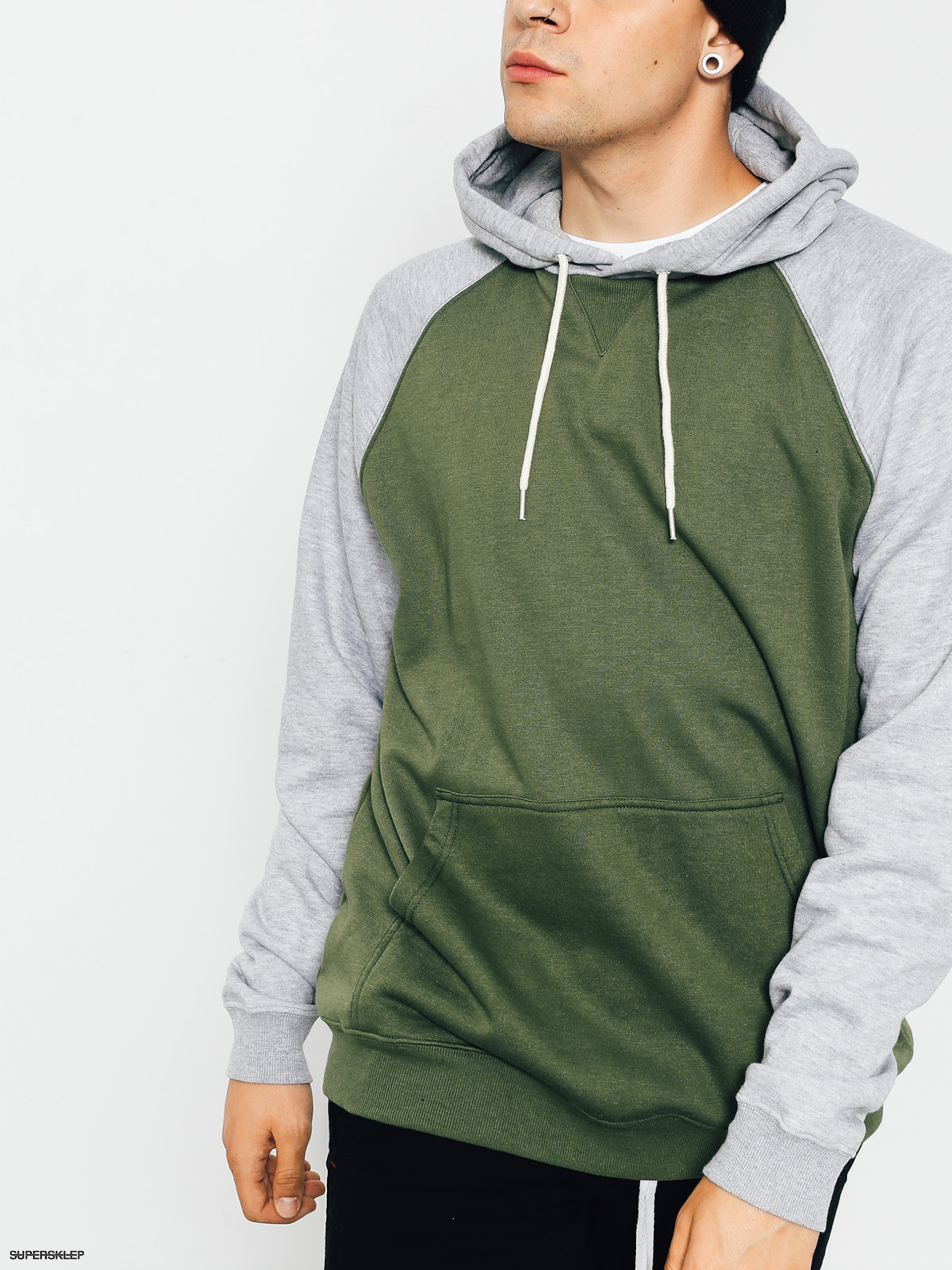 Bluza z kapturem DC Rebel Raglan HD (vintage green)