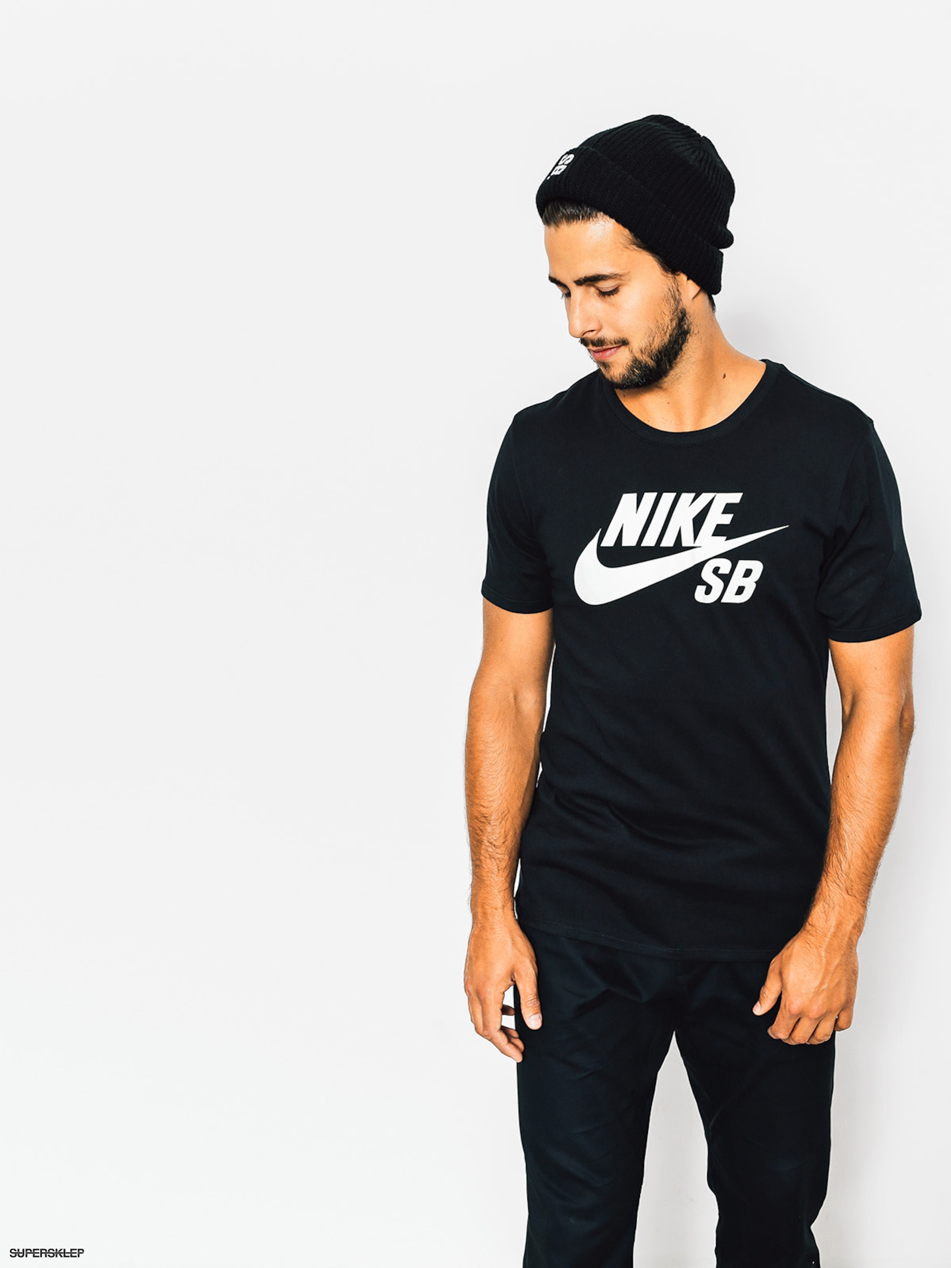 T-shirt Nike SB Logo (black/white)