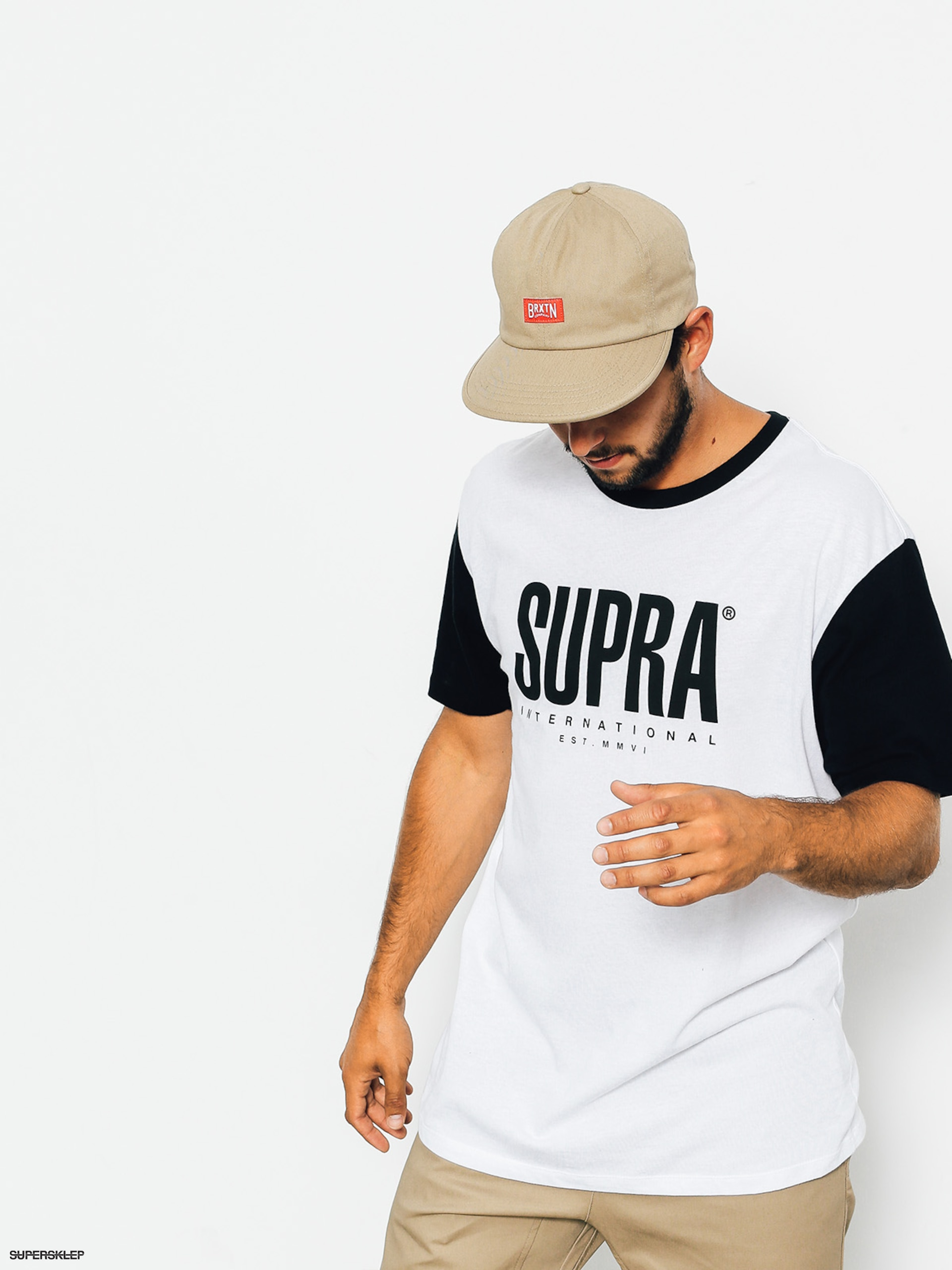 T-shirt Supra Registered Clrblcs (white/black)