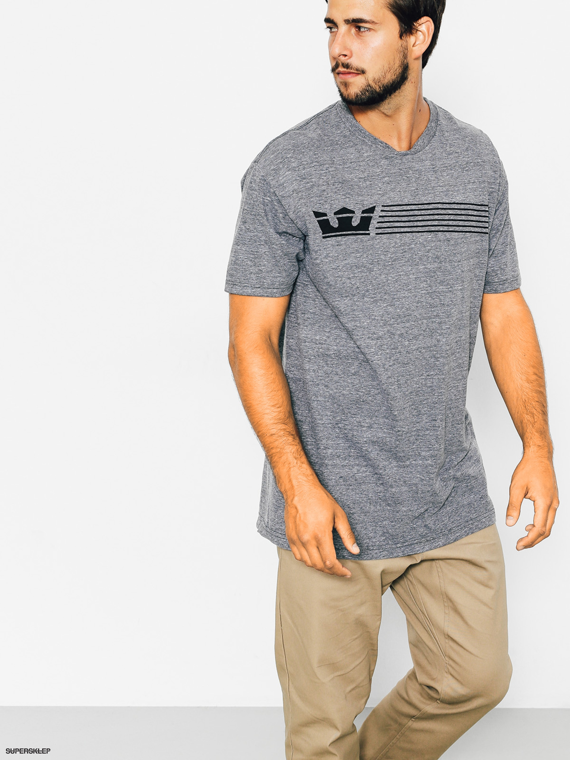 T-shirt Supra Crownstripe Regular (grey heather)