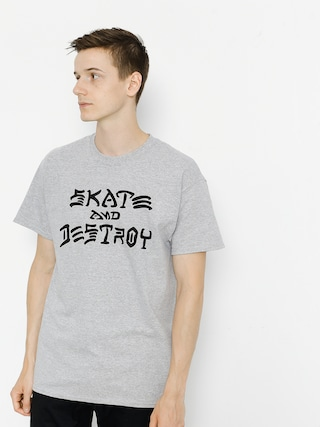 T-shirt Thrasher Skate And Destroy (grey)