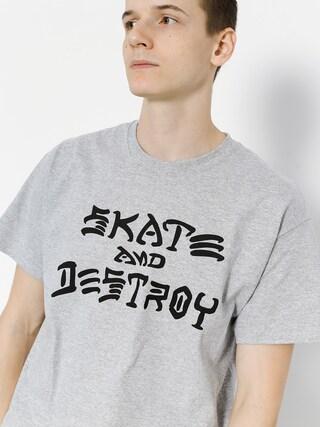 T-shirt Thrasher Skate And Destroy (grey)