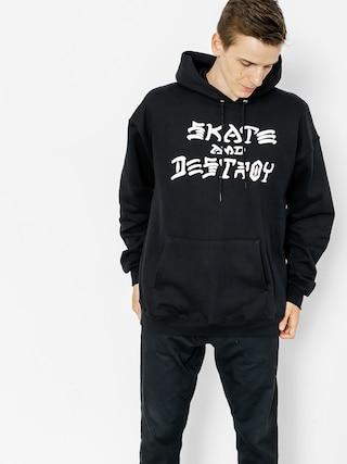Bluza z kapturem Thrasher Skate And Destroy HD (black)