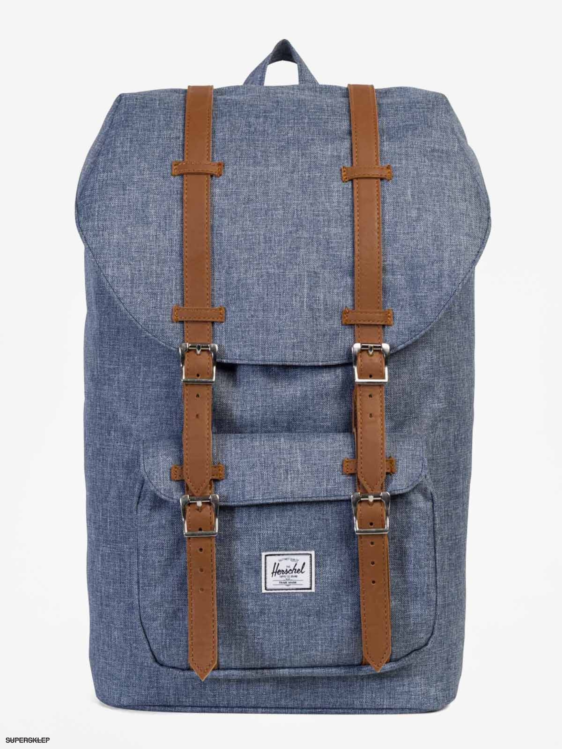 Plecak Herschel Supply Co. Little America (dark chambray crosshatch/tan synthetic leather)