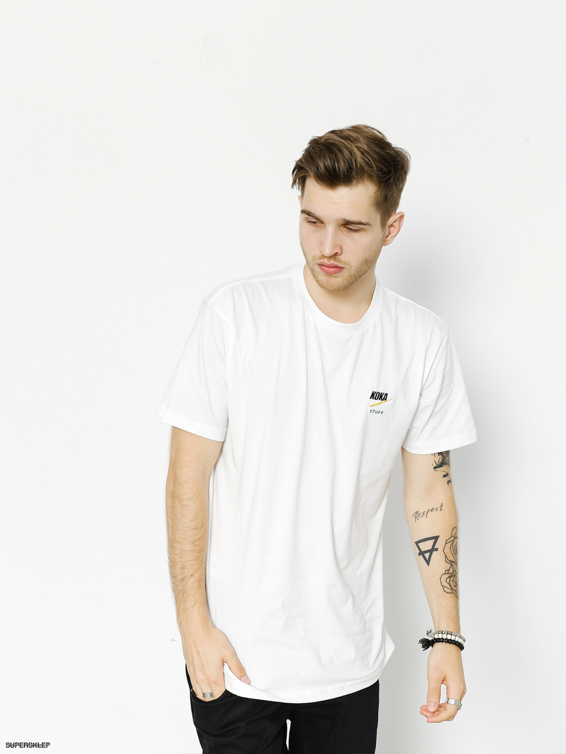 T-shirt Koka Fake Heart (white)