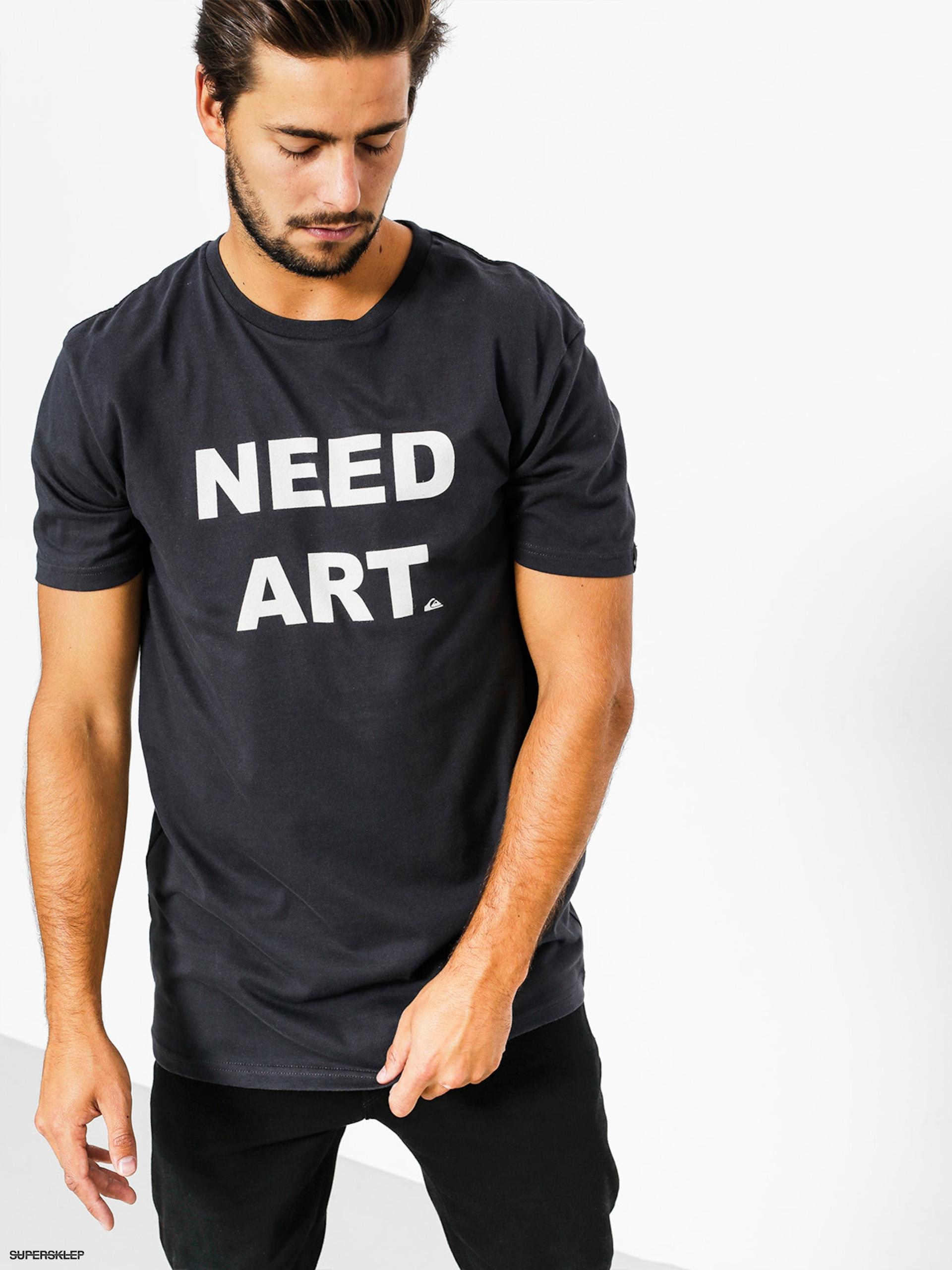 T-shirt Quiksilver Need Art (tarmac)