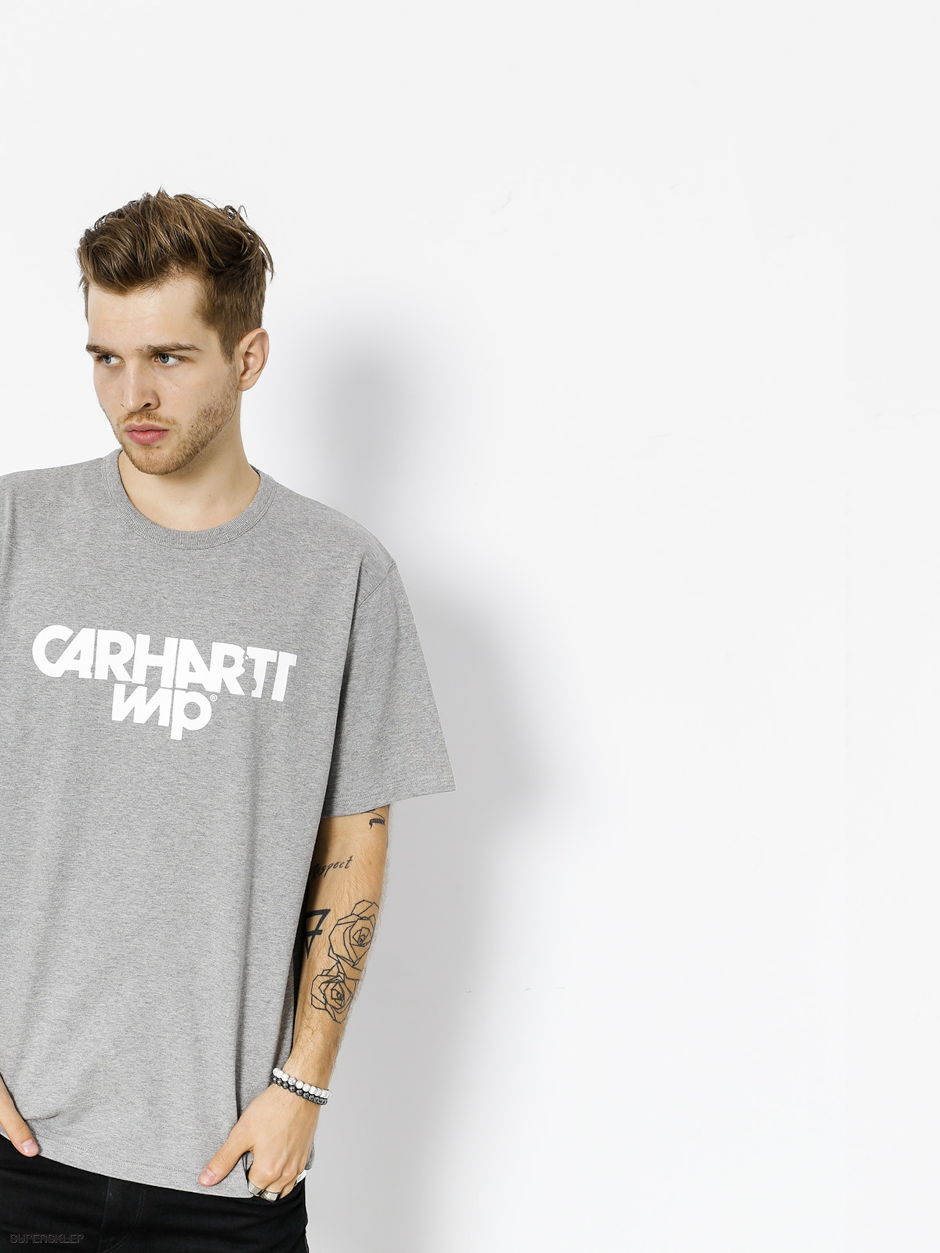 T-shirt Carhartt Shatter (grey heather/white)