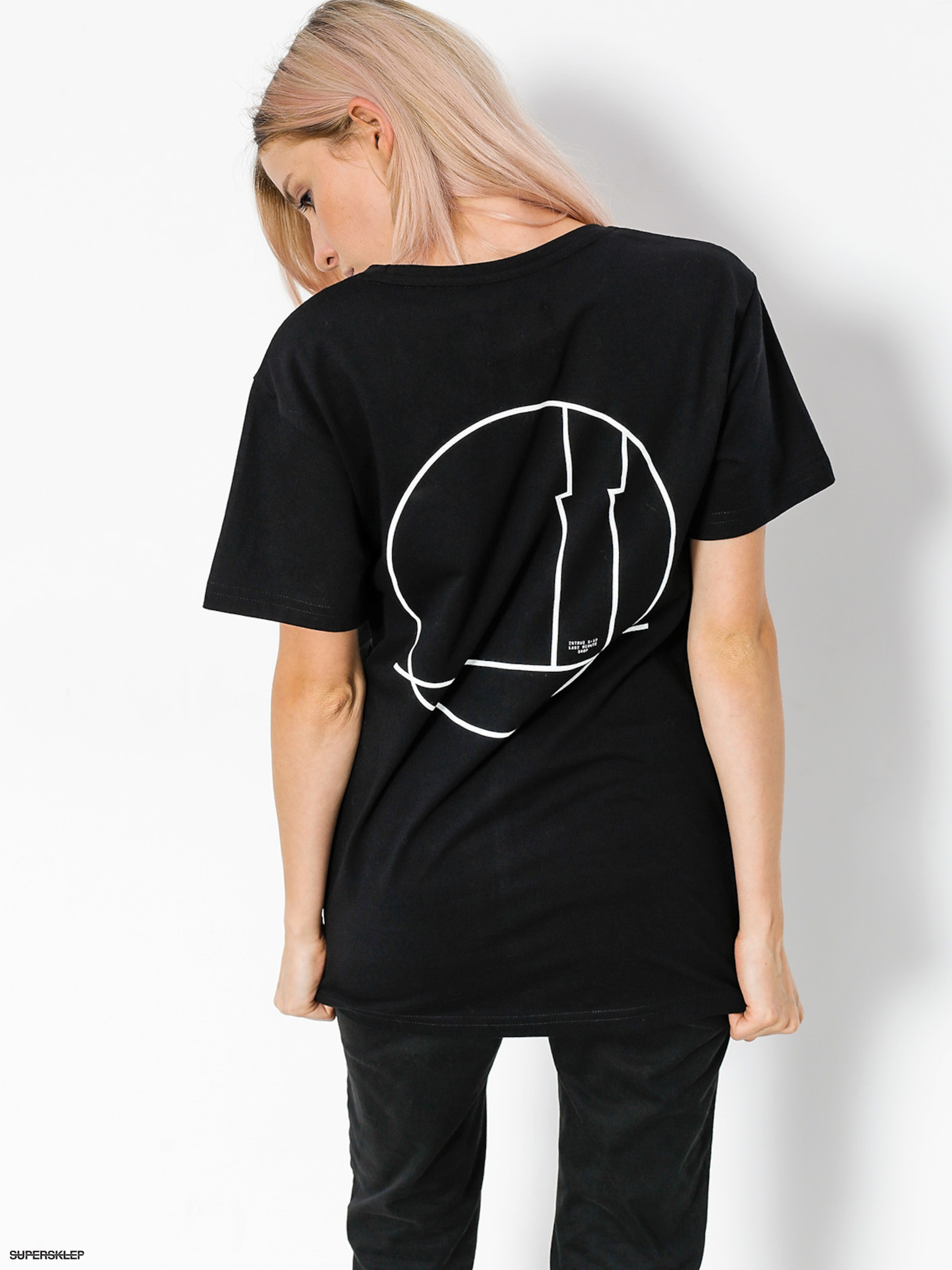 T shirt intruz full moon wmn black for Full black t shirt
