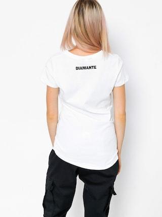 T-shirt Diamante Wear Crush And Roll Wmn (white)