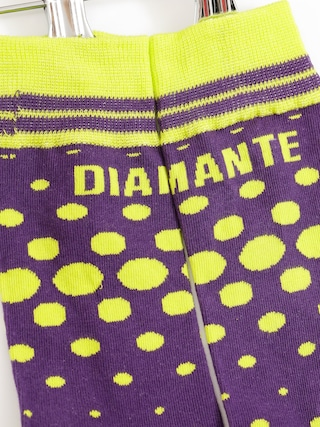 Skarpetki Diamante Wear Toxic (lime/purple)