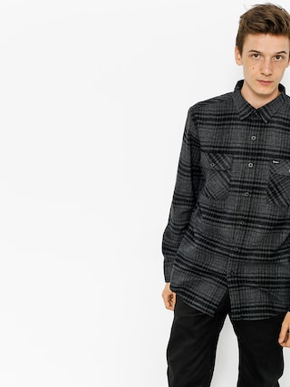 Koszula Brixton Bowery Flannel Ls (black/heather charcoal)
