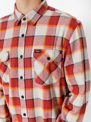 Koszula Brixton Bowery Flannel Ls (red/grey)