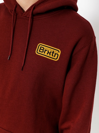 Bluza z kapturem Brixton Springfield HD (burgundy)