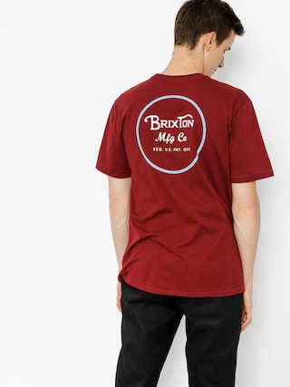 T-shirt Brixton Wheeler II (burgundy/white)