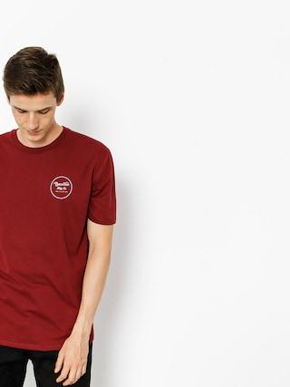 T-shirt Brixton Wheeler II (burgundy/white)