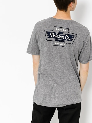 T-shirt Brixton Federal (heather grey)