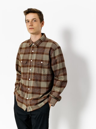 Koszula Brixton Martel Jje Flannel Ls (brown/grey)