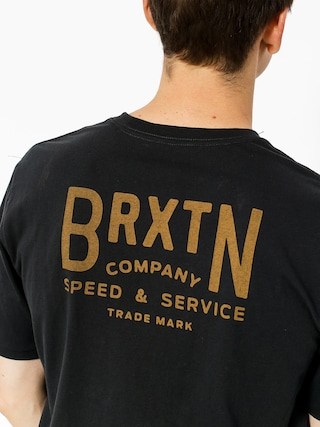 T-shirt Brixton Langley (washed black)