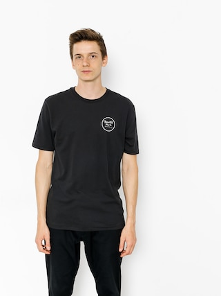 T-shirt Brixton Wheeler II (washed black/white)