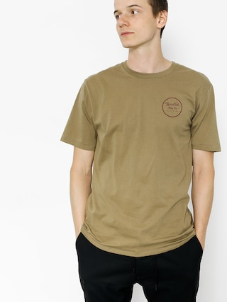 T-shirt Brixton Wheeler II (dusty olive)