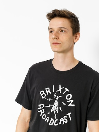 T-shirt Brixton Broadcast (washed black)