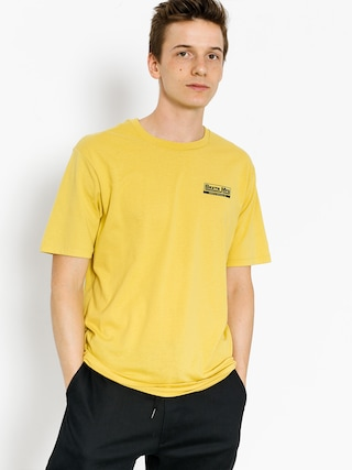 T-shirt Brixton Traction (washed yellow)