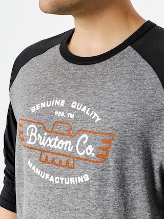 Koszulka Brixton Concord 3I4 (heather grey/washed black)