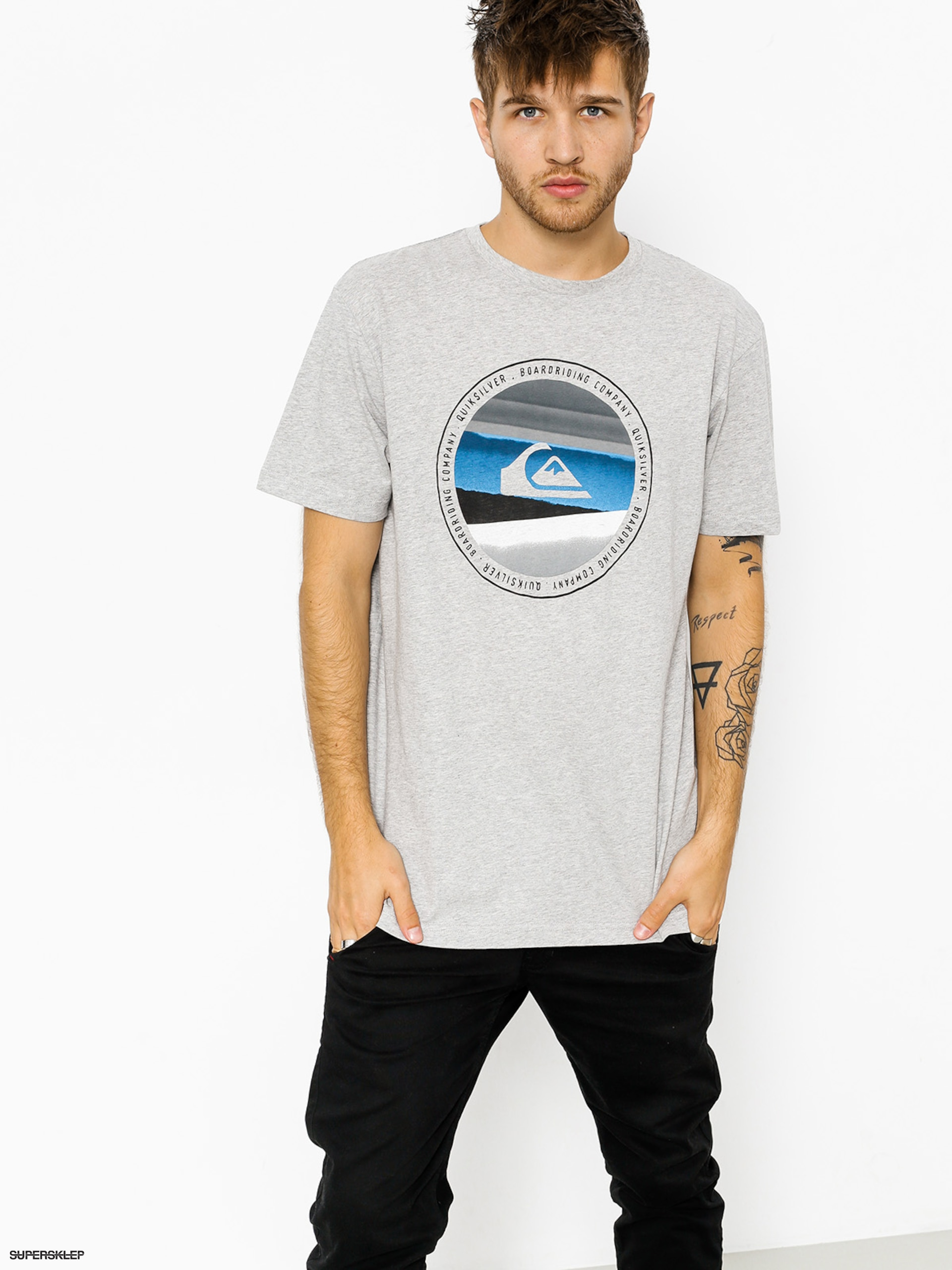 T-shirt Quiksilver Classic Last Tree (athletic heather)